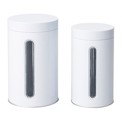 INRE Storage tin with lid, set of 2 $6.99