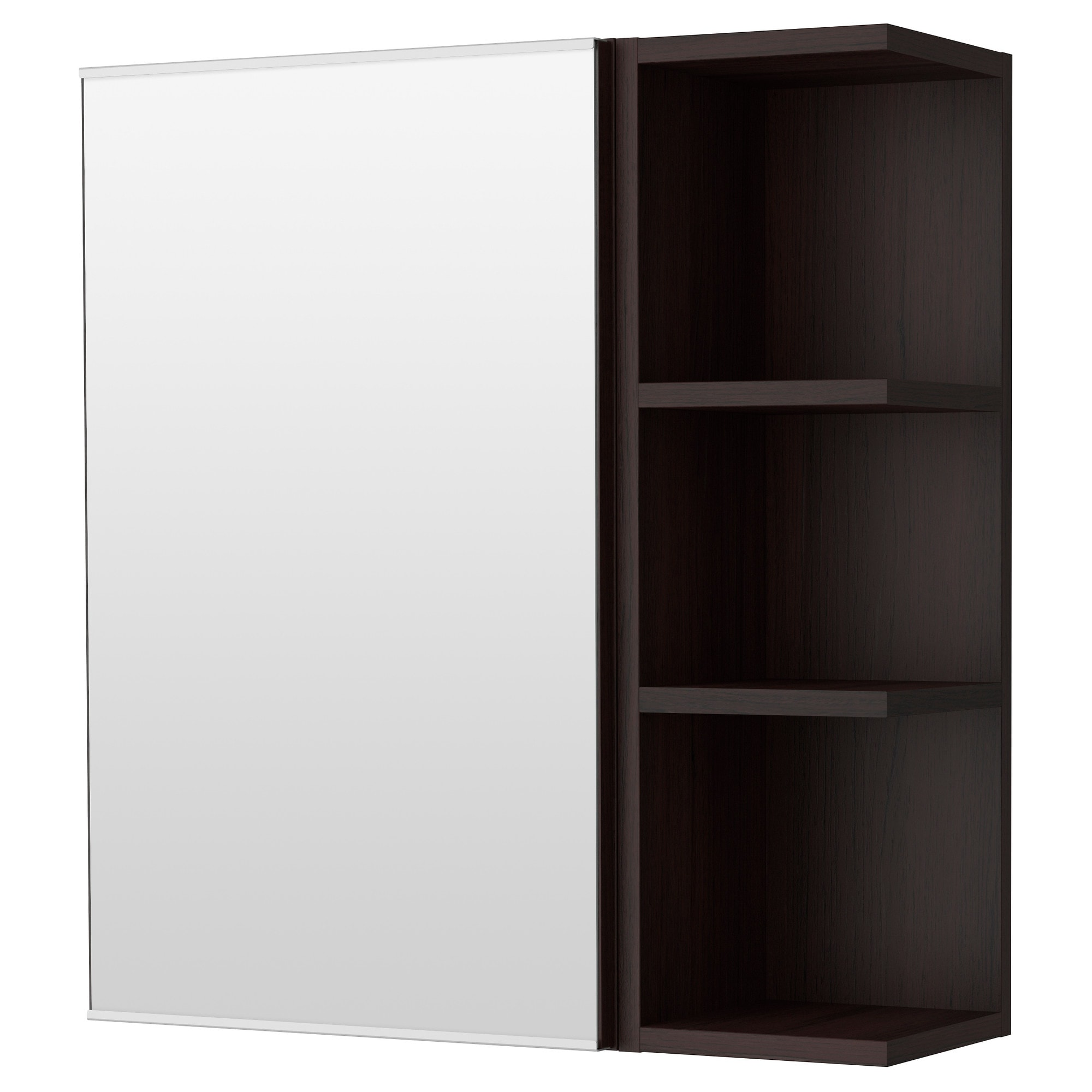 lillngen mirror cabinet 1 door1 end unit blackbrown width 23 - Corner Bathroom Cabinet