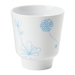 "BAKELSE tumbler, light blue, double-walled white Height: 4 "" Volume: 8 oz Height: 10 cm Volume: 24 cl"