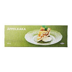 ÄPPELKAKA Swedish applecake, frozen Net weight: 1 lb 5 oz Net weight: 600 g