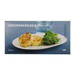 GRÖNSAKSKAKA vegetable medallion, frozen Net weight: 600 g