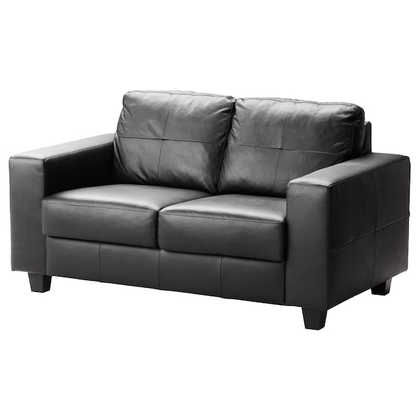 skogaby 2er sofa robust glose bomstad schwarz ikea. Black Bedroom Furniture Sets. Home Design Ideas