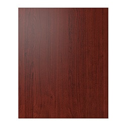 "PERFEKT RAMSJÖ cover panel for high cabinet, red-brown Width: 24 5/8 "" Height: 79 1/2 "" Thickness: 1/2 "" Width: 62.6 cm Height: 201.9 cm Thickness: 1.4 cm"