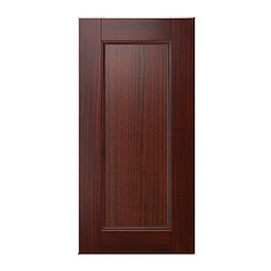 "RAMSJÖ door for corner wall cabinet, red-brown Width: 16 5/8 "" Height: 30 1/8 "" Thickness: 3/4 "" Width: 42.3 cm Height: 76.5 cm Thickness: 2 cm"