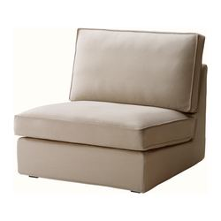 KIVIK one-seat section cover, Dansbo beige