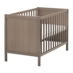 SUNDVIK cot, grey-brown