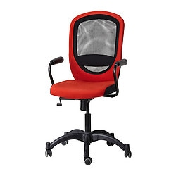 "VILGOT/ NOMINELL swivel chair with armrests, red Tested for: 242 lb 8 oz Width: 29 1/8 "" Depth: 27 1/8 "" Tested for: 110 kg Width: 74 cm Depth: 69 cm"