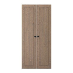 STUVA BETSAD door, grey-brown Width: 60.0 cm Height: 128 cm Package quantity: 2 pack