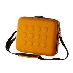 "UPPTÄCKA briefcase, yellow-orange Length: 15 "" Depth: 4 ¾ "" Height: 12 ¼ "" Length: 38 cm Depth: 12 cm Height: 31 cm"