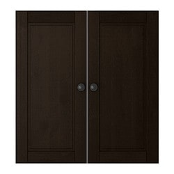 STUVA BETSAD door, black-brown Width: 60.0 cm Height: 64 cm Package quantity: 2 pack