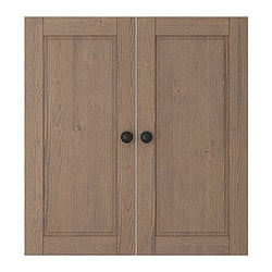 STUVA BETSAD door, grey-brown Width: 60.0 cm Height: 64 cm Package quantity: 2 pack