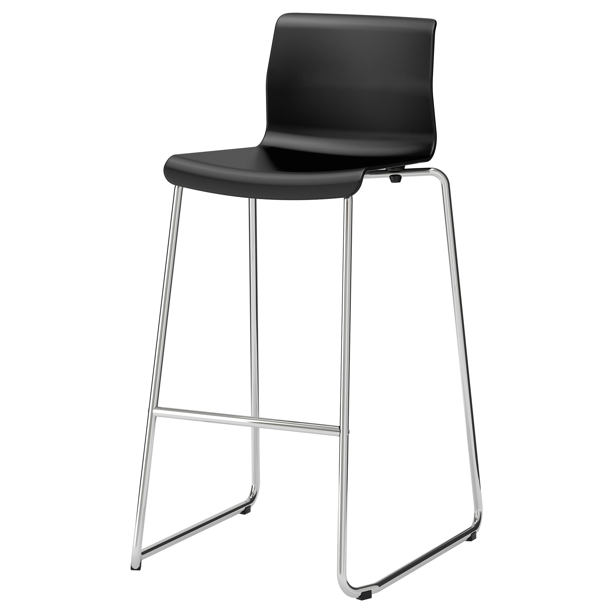 GLENN bar stool, black, chrome plated Tested for: 220 lb Width: 19