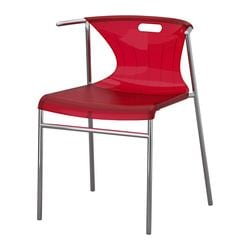ELMER chair, chrome-plated, red Width: 50 cm Depth: 46 cm Height: 70 cm