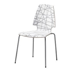 VILMAR chair, striped black, chrome-plated Tested for: 110 kg Width: 52 cm Depth: 55 cm