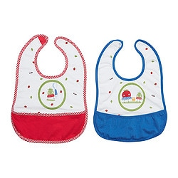 KLADD SMULTRON bib, blue, red Package quantity: 2 pack