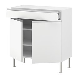 FAKTUM base cabinet/shelves/drawer/2 doors, Årsta white Width: 79.8 cm Depth: 37.0 cm Height: 86.0 cm
