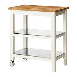 STENSTORP, Kitchen cart, white, oak