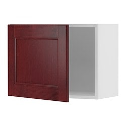 "AKURUM fan cabinet with 1 door, Ramsjö red-brown, white Width: 23 7/8 "" Depth: 12 7/8 "" Height: 17 3/4 "" Width: 61 cm Depth: 33 cm Height: 45 cm"