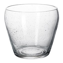 JÄTTEBRA plant pot, clear glass Outside diameter: 16 cm Max. diameter flowerpot: 12 cm Height: 14 cm