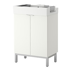 LILLÅNGEN washbasin cabinet with 2 doors, white Width: 60 cm Depth: 41 cm Height: 92 cm