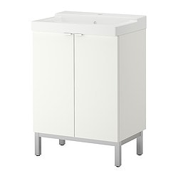 LILLÅNGEN/ TÄLLEVIKEN washbasin cabinet with 2 doors, white Width: 60 cm Depth: 41 cm Height: 87 cm