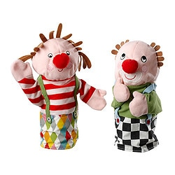 KLAPPAR CIRKUS glove puppet, clown Length: 30 cm