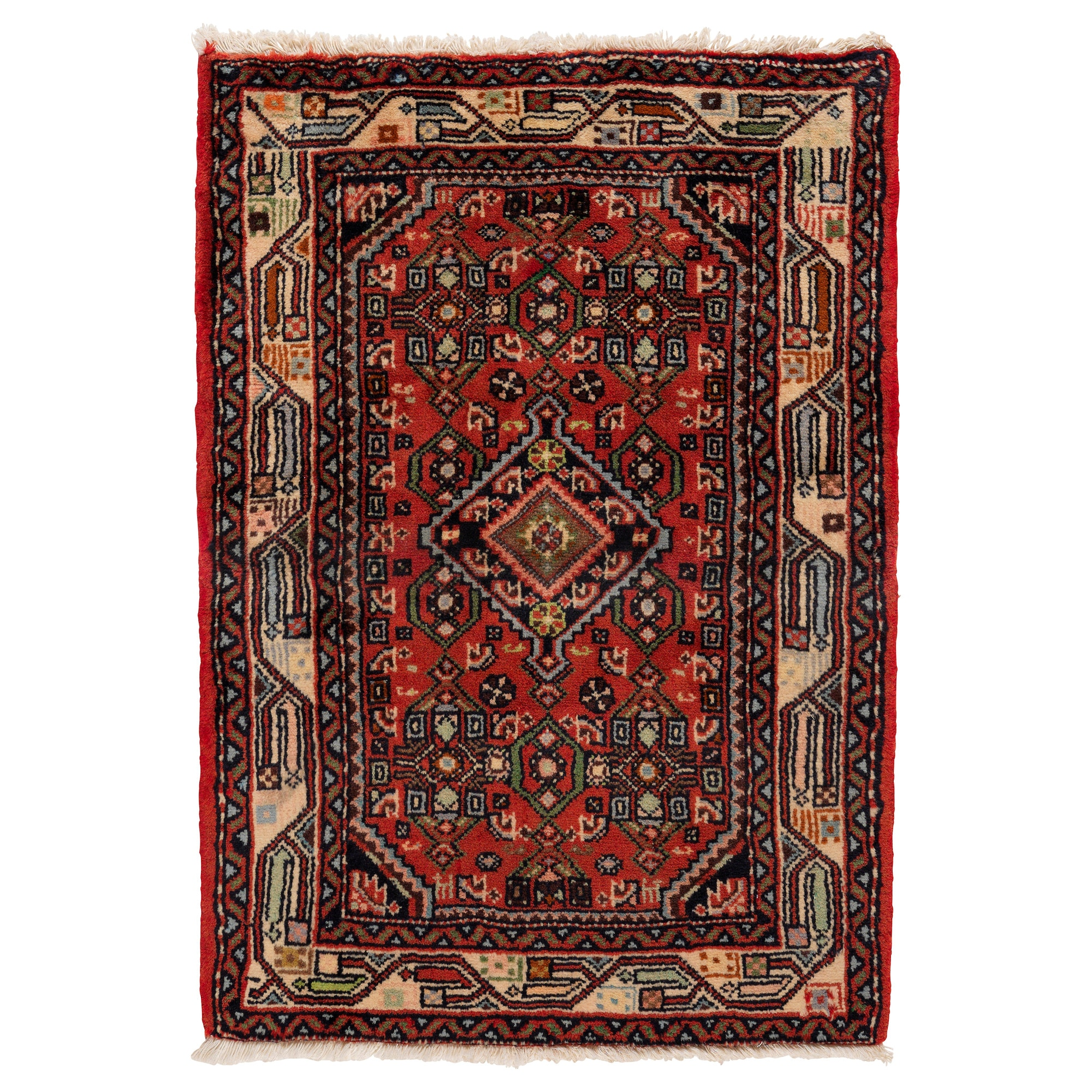 PERSISK HAMADAN Rug, Low Pile, Assorted Patterns Handmade Assorted Patterns  Length: 90 Cm
