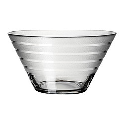 TRYGG serving bowl, clear/frosted glass Diameter: 17 cm Height: 9 cm