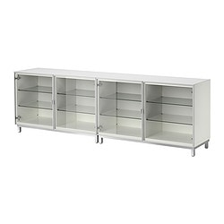 BESTÅ storage combination with doors, white Width: 240 cm Depth: 40 cm Height: 74 cm