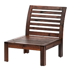 ÄPPLARÖ, One-seat section, outdoor, brown stained brown