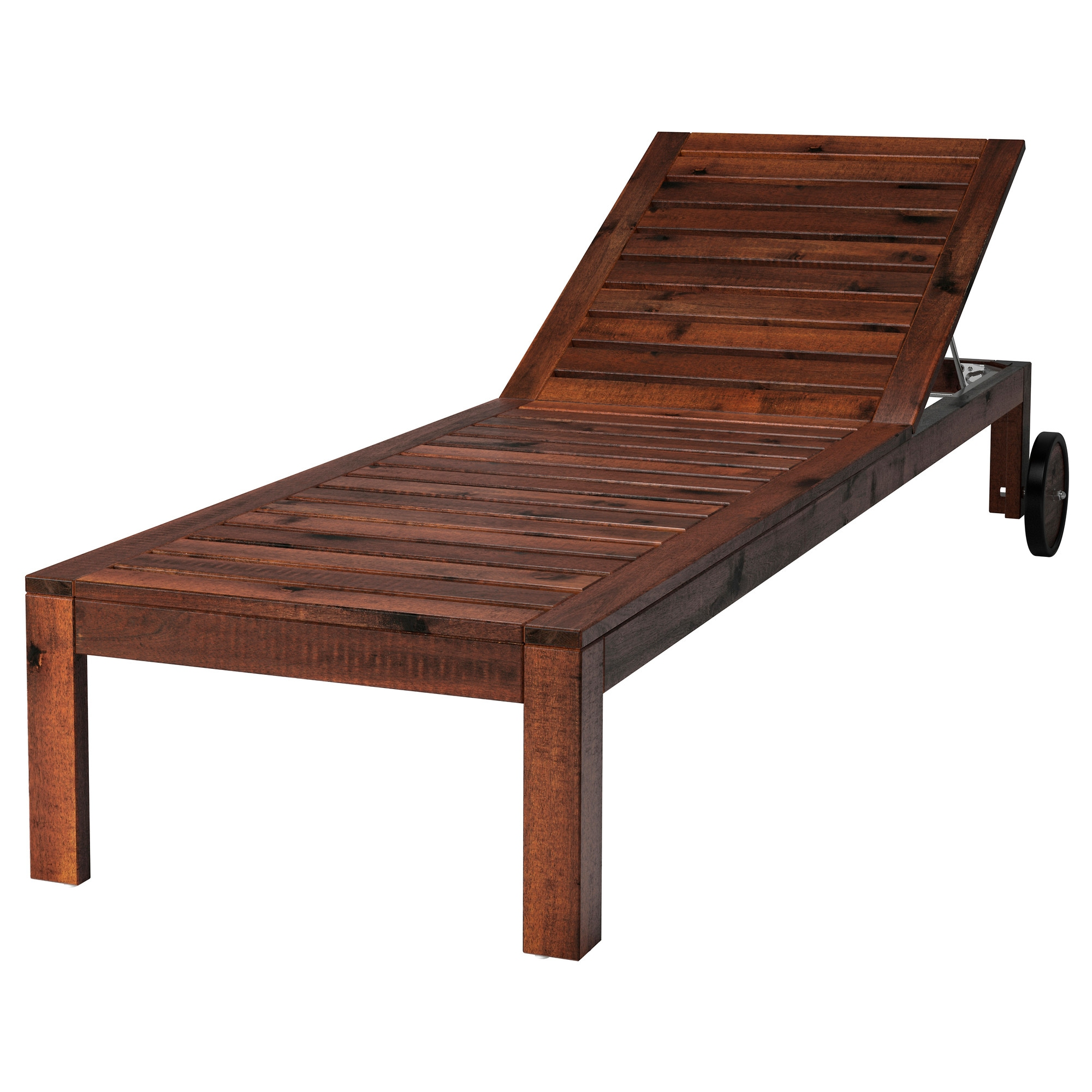 Wooden beach lounge chair -  Pplar Chaise Brown Brown Stained Length 78 3 8 Width 28