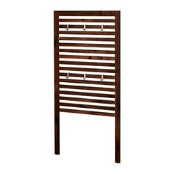 ÄPPLARÖ wall panel, outdoor, brown stained brown Width: 80 cm Height: 158 cm