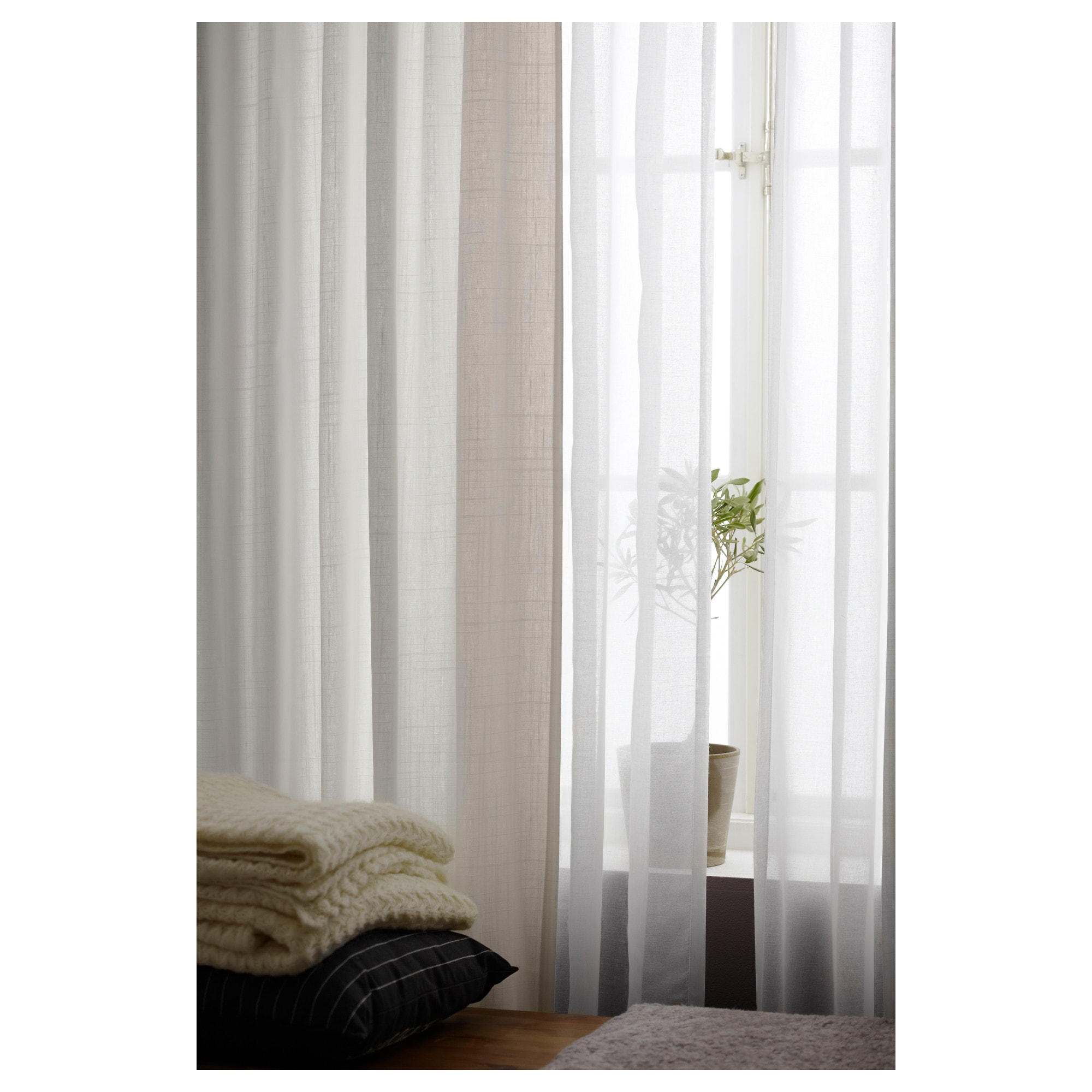 RITVA Curtains with tie-backs, 1 pair - 57x98 \