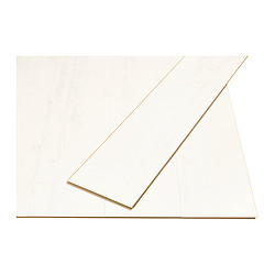 TUNDRA laminated flooring, white Length: 138 cm Width: 19.0 cm Plank thickness: 7 mm
