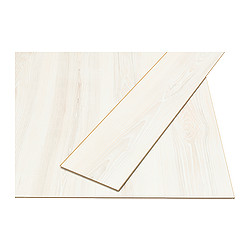 PRÄRIE laminated flooring, white, ash effect Length: 138 cm Width: 19.0 cm Plank thickness: 7 mm