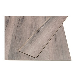 PRÄRIE laminated flooring, grey, oak effect Length: 138 cm Width: 19.0 cm Plank thickness: 7 mm