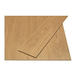 GOLV laminated flooring, oak effect Length: 138 cm Width: 19.0 cm Plank thickness: 8 mm