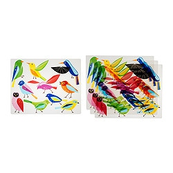 KLISTRIG place mat, bird Length: 29 cm Width: 36 cm Package quantity: 4 pieces