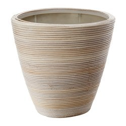 "PEKANNÖT plant pot, rattan Outside diameter: 13 ½ "" Max. diameter inner pot: 9 ½ "" Height: 13 ¾ "" Outside diameter: 34 cm Max. diameter inner pot: 24 cm Height: 35 cm"