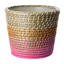 JORDNÖT plant pot, pink Outside diameter: 15 cm Max. diameter flowerpot: 12 cm Height: 12 cm