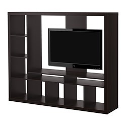 EXPEDIT TV storage unit, black-brown Width: 185 cm Depth: 39 cm Height: 149 cm
