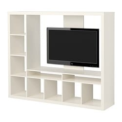 EXPEDIT TV storage unit, white Width: 185 cm Depth: 39 cm Height: 149 cm