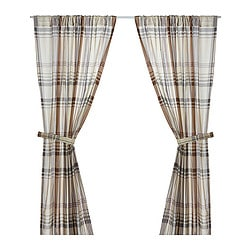 BENZY curtains with tie-backs, 1 pair, beige Length: 250 cm Width: 145 cm Weight: 1.00 kg