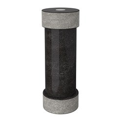 "ÄDELSTEN spice mill, marble black Height: 7 "" Height: 19 cm"