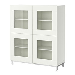 "BESTÅ shelf unit with glass doors Width: 47 1/4 "" Width: 120 cm"