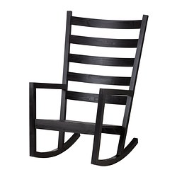VÄRMDÖ rocking-chair, in/outdoor, black black-brown stained black-brown Width: 65 cm Depth: 74 cm Seat width: 47 cm