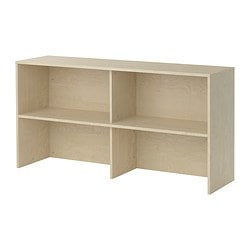 GALANT add-on unit, birch veneer Width: 160 cm Depth: 40 cm Height: 80 cm