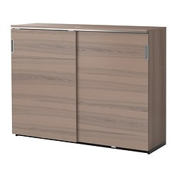 "GALANT cabinet with sliding doors, gray Width: 63 "" Depth: 17 3/4 "" Height: 47 1/4 "" Width: 160 cm Depth: 45 cm Height: 120 cm"