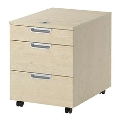 GALANT drawer unit on castors, birch veneer Width: 45 cm Depth: 60 cm Height: 55 cm