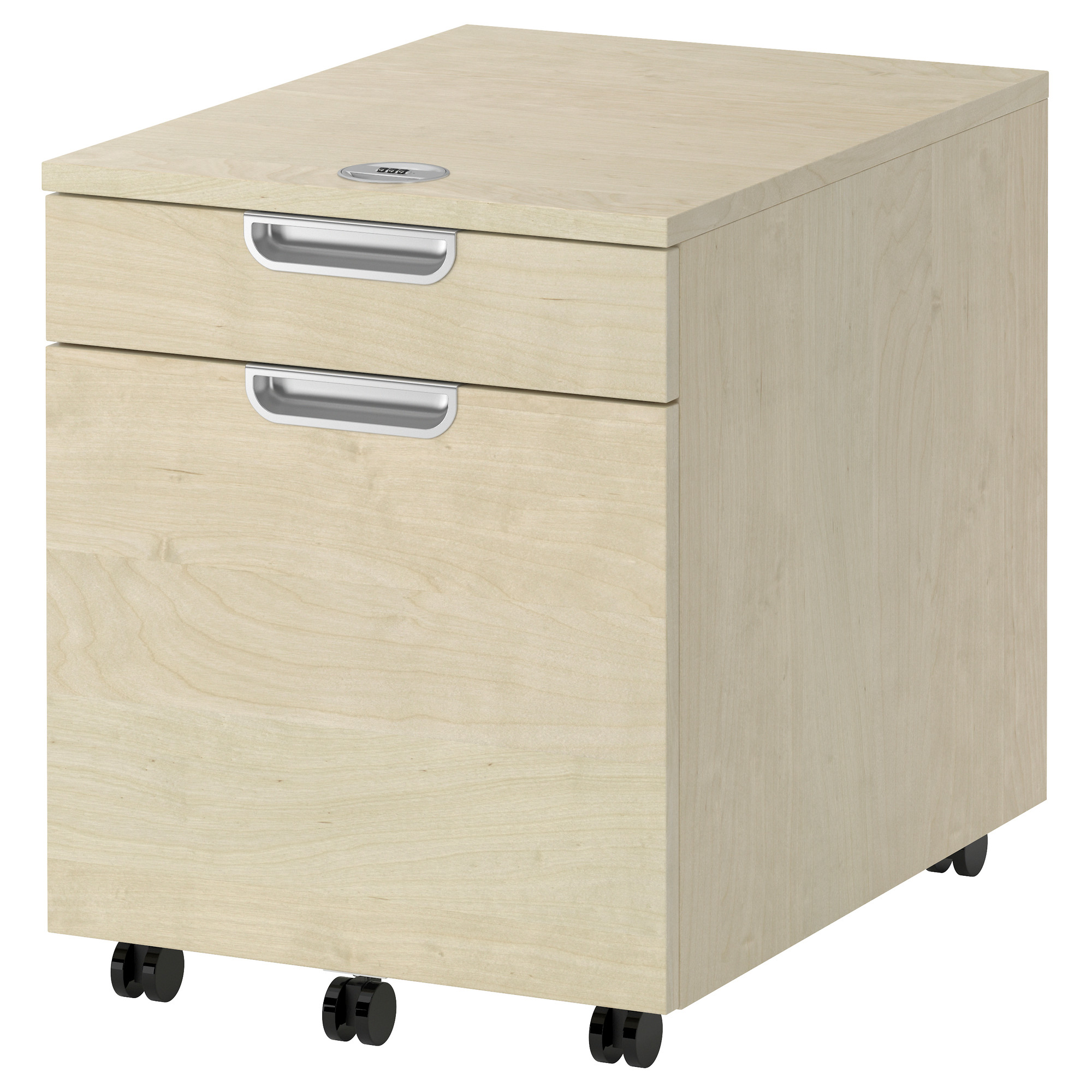 GALANT Drawer unit/drop file storage - birch veneer - IKEA